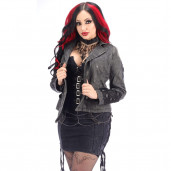 women's Girl General Jacket by PUNK RAVE brand, code: Y-306