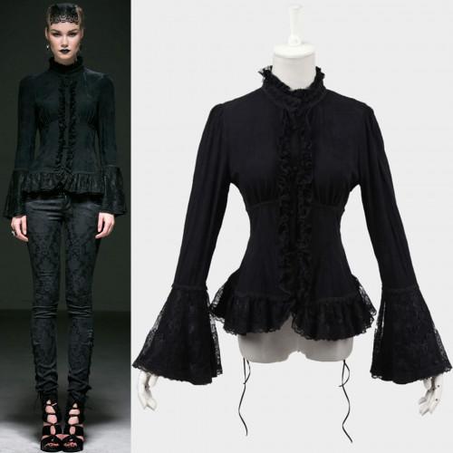 women's Adora Shirt by PUNK RAVE brand, code: Y-544/BK