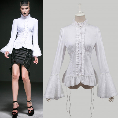 women's Adora Shirt by PUNK RAVE brand, code: Y-544/WH