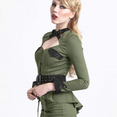 women's Girl Soldier Top by PUNK RAVE brand, code: Y-623/GR