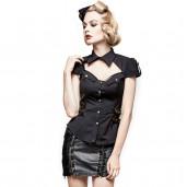 women's Mistressa Shirt by PUNK RAVE brand, code: Y-720/BK