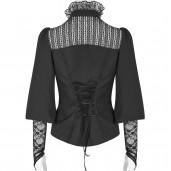 women's Vampira Shirt by PUNK RAVE brand, code: Y-794/BK