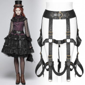 women's The Cage Harness Skirt by PUNK RAVE brand, code: WS-281