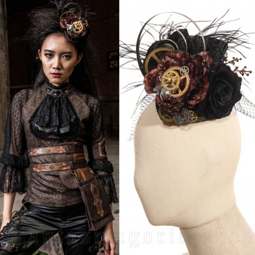 women's Time Spiral Fascinator by RQ-BL brand, code: SP078