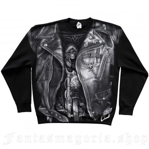 men's Biker Jacket Sweatshirt by FANTASMAGORIA brand, code: B262