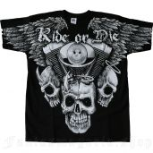 men's Ride Or Die T-Shirt by FANTASMAGORIA brand, code: RR12