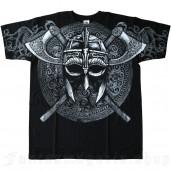 men's Vikings Helmet T-Shirt by FANTASMAGORIA brand, code: T1526-FA-TS