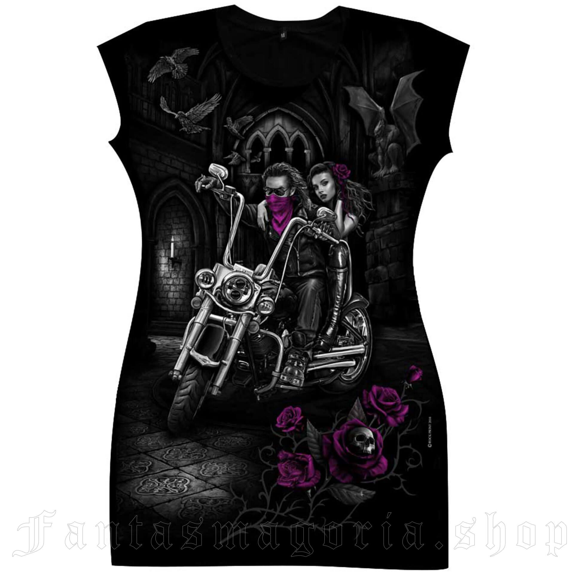 women's Bikers Love Tunic by FANTASMAGORIA brand, code: TD60