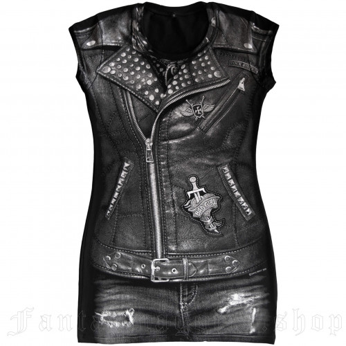 women's Biker Jacket Tunic by FANTASMAGORIA brand, code: TD64