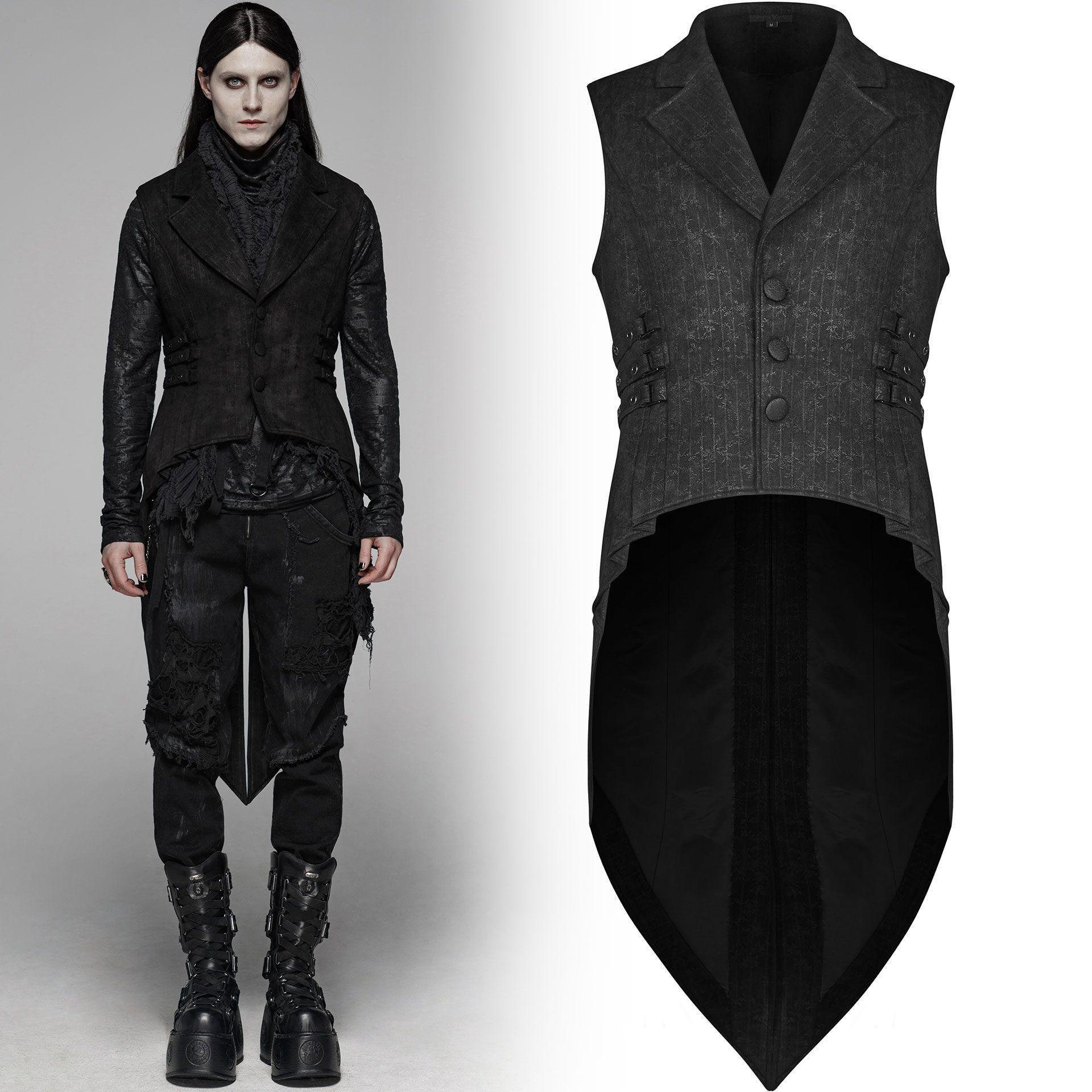 men's Nostalgic Lover Waistcoat by PUNK RAVE brand, code: WY-1082