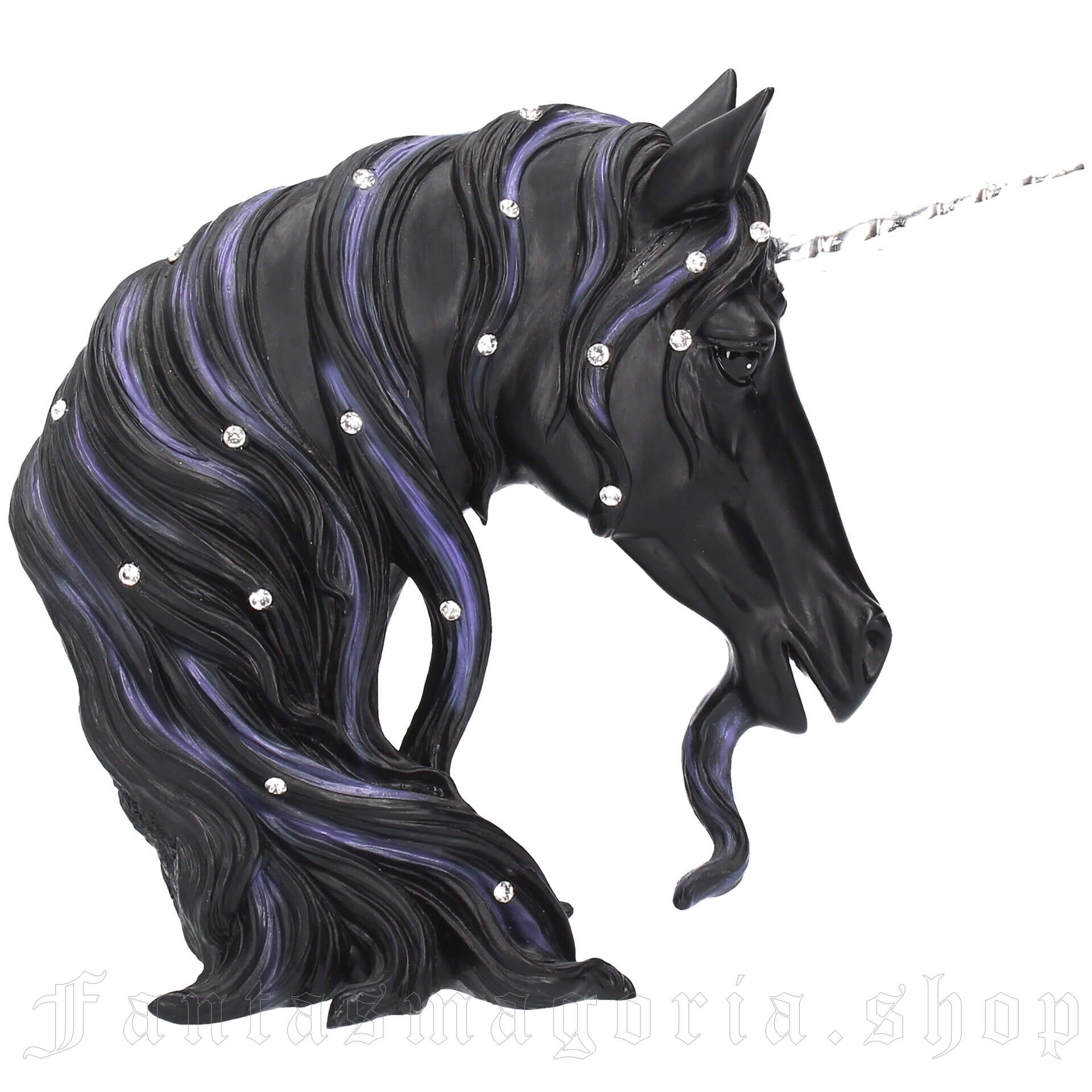 Jewelled Midnight Unicorn Statue (Small)