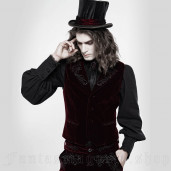 men's Hamlet Red Waistcoat by PUNK RAVE brand, code: WY-1270/RD