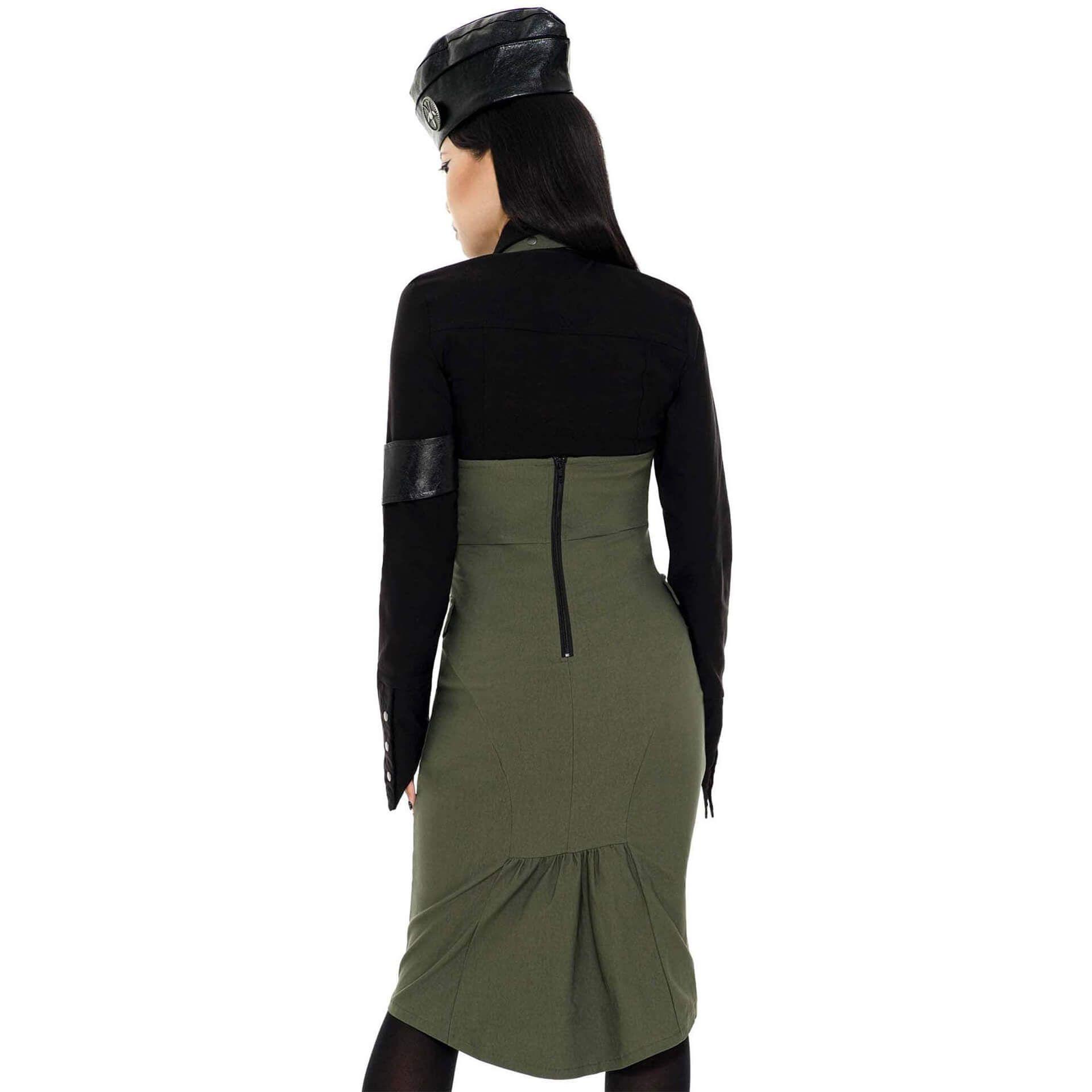 Darkwave Division Khaki Midi Skirt