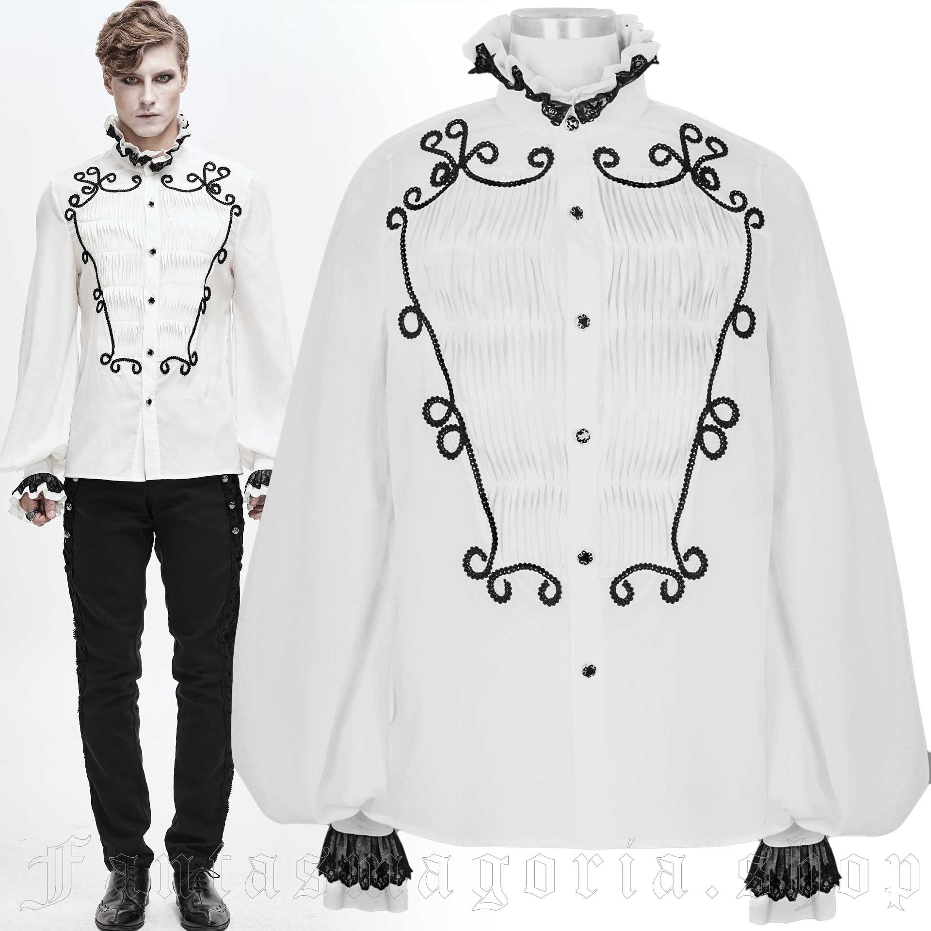 men's Phantom White Shirt by DEVIL FASHION brand, code: SHT04202