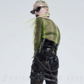 women's Neon Snake Top by PUNK RAVE brand, code: WT-659/BK-GR