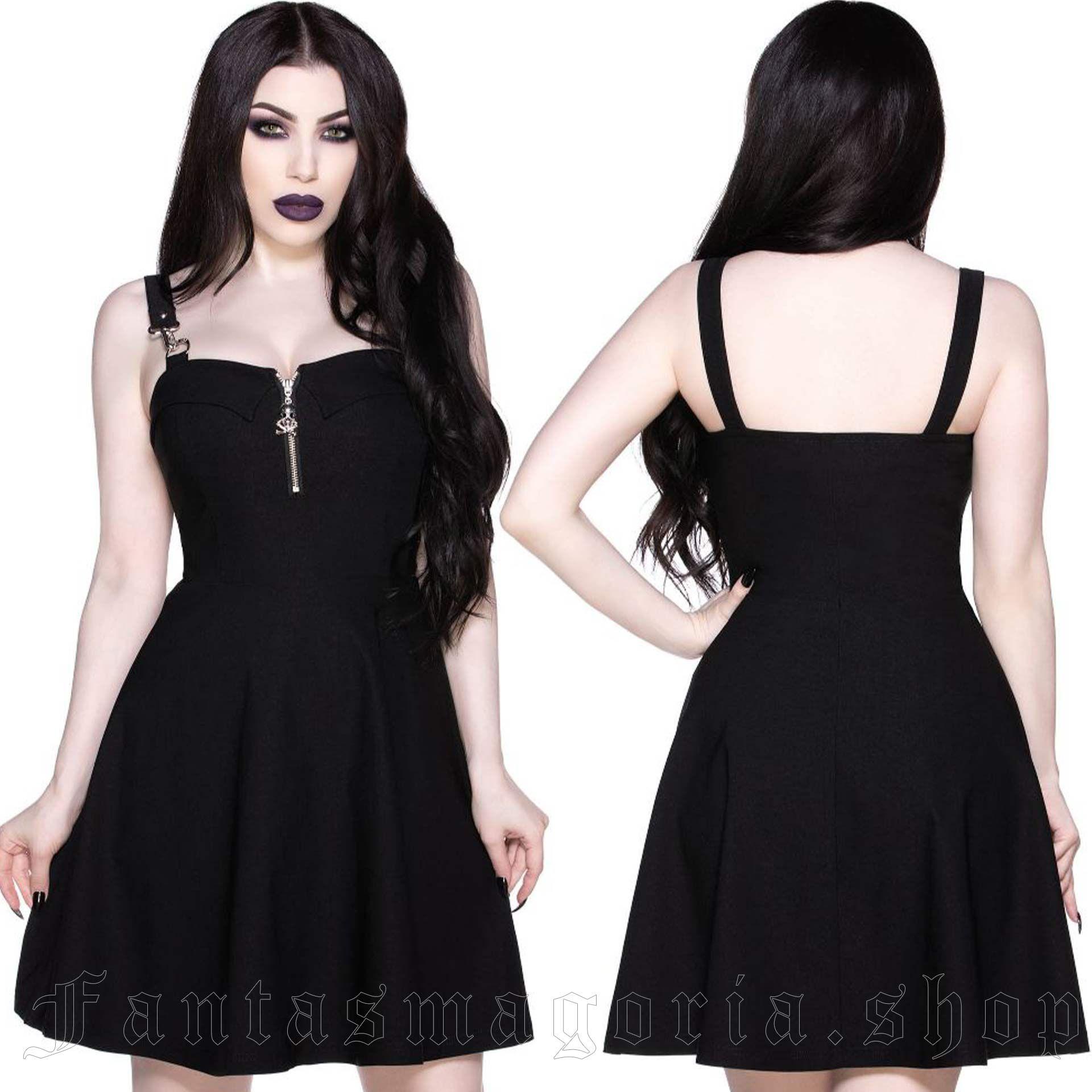 women's Wild Side Black Skater Dress by KILLSTAR brand, code: KSRA002925