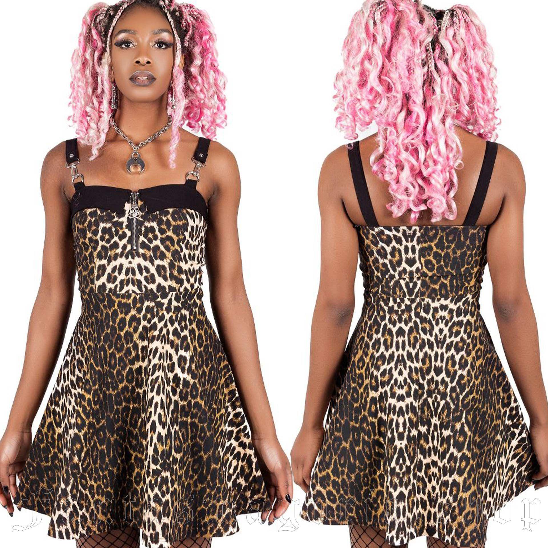 women's Wild Side Leopard Skater Dress by KILLSTAR brand, code: KSRA002924