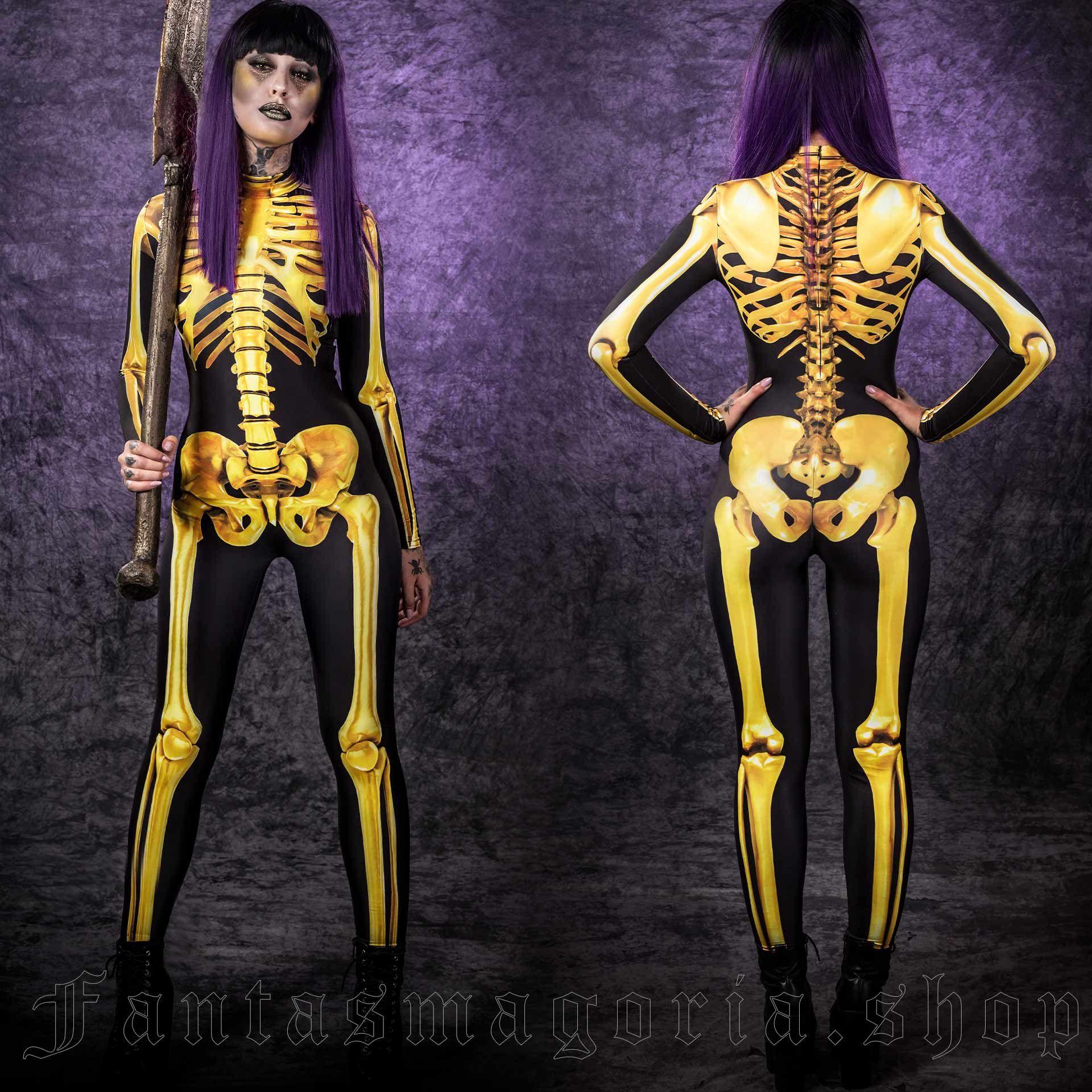 Golden Skeleton Bodysuit