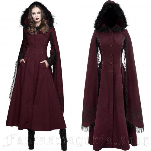women's Swansea Red Coat by DEVIL FASHION brand, code: CT02402