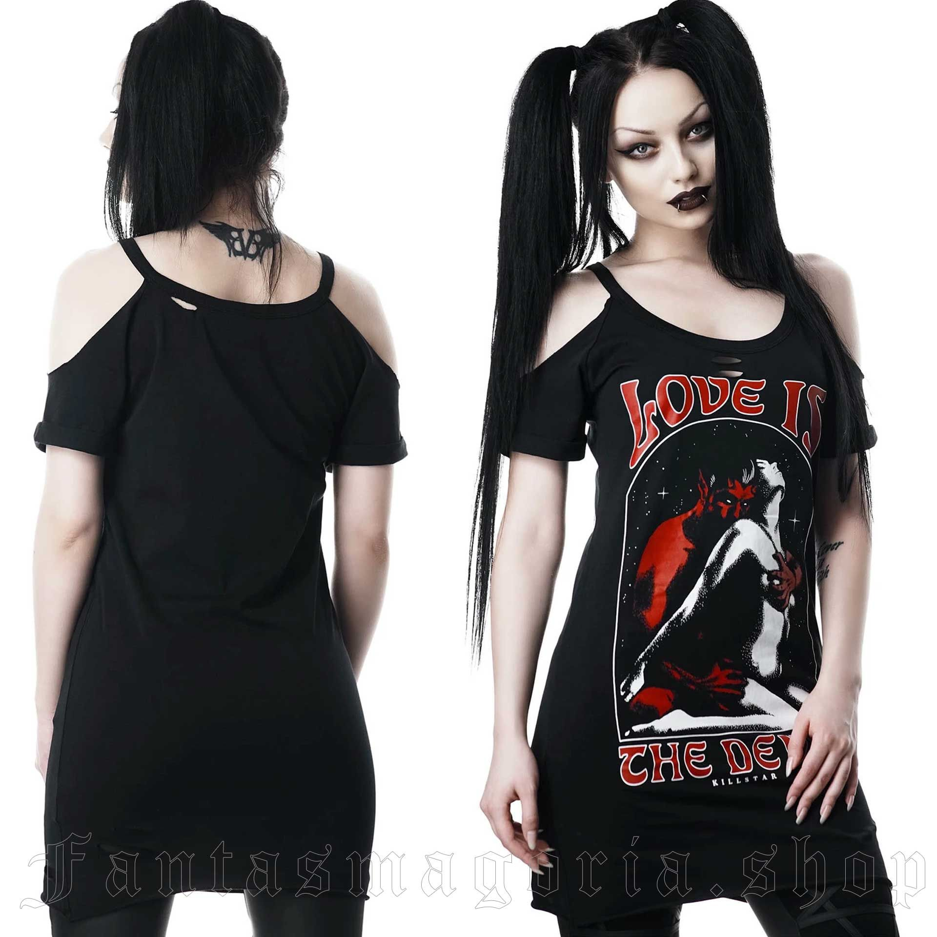 Love Devil Distress Top