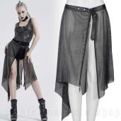 women's Kitsune Silver Overskirt by PUNK RAVE brand, code: WS-264/SI